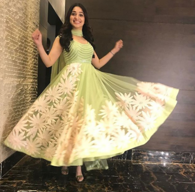 Tammannah Bhatia's lime green Anarkali tradition attire is a worthy thing to see today