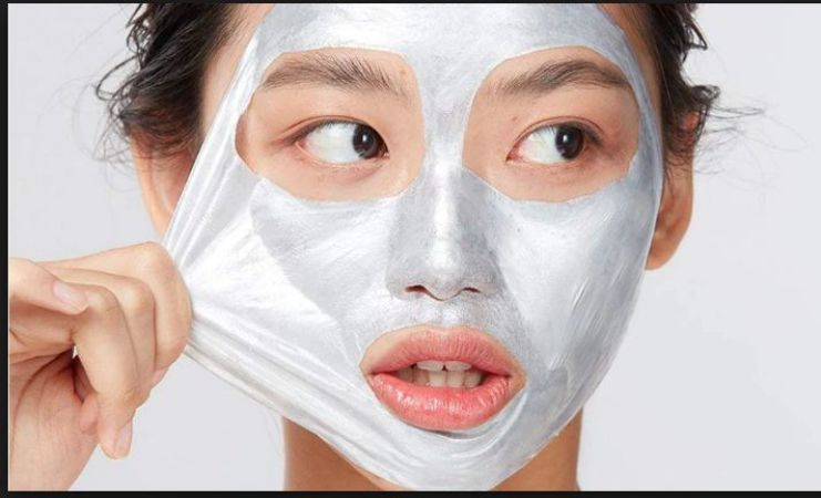 Home Made peel-off face mask to get glass shadow skin