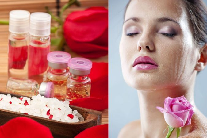 Rose water helps skin to give a natural glow