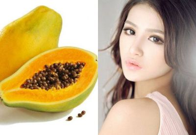 Papaya seeds bring beautiful accents in the skin