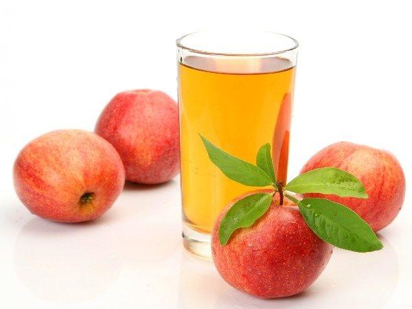 Apple juice enhances the color of face