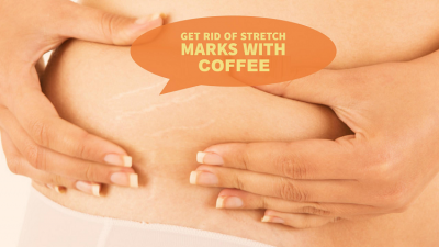 Use coffee powder to remove the Stretch marks