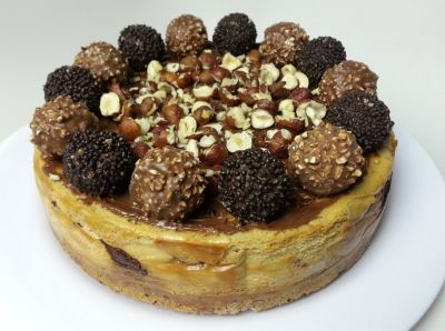 Craving for delicious dessert then try out Ferrero Rocher Cheesecake