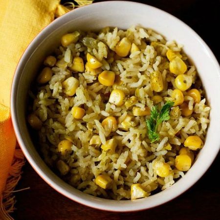 Make tasty Corn Pulao with ease at home with this recipe