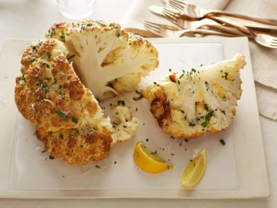This winter try mouth-watering Mustard-Parmesan Whole Roasted Cauliflower