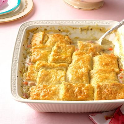 Enjoy Easter with buttermilk Biscuit Ham Potpie