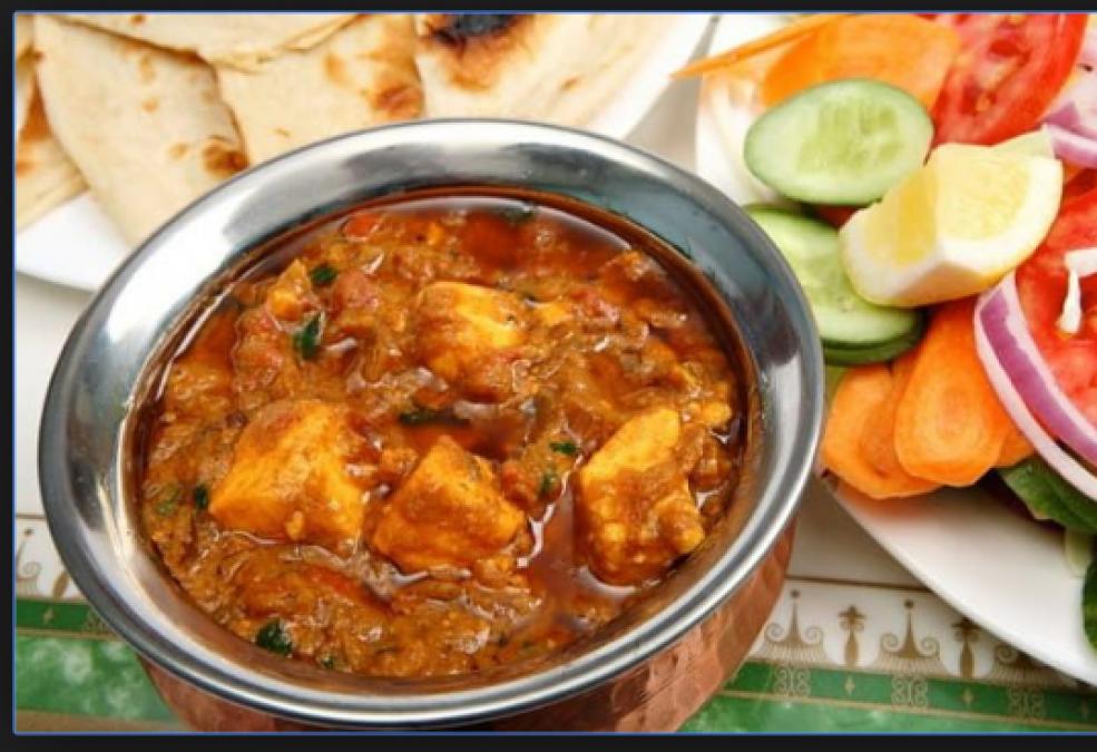 Made Dhaba style Handi Paneer Recipe here