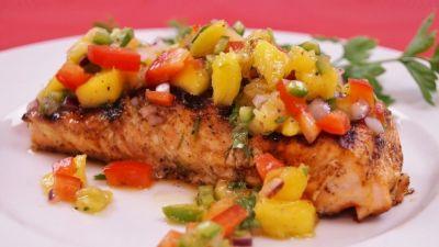 Baked Salmon with Mango Salsa Recipe
