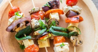 Mix Vegetables and Cheese Skewers Recipe