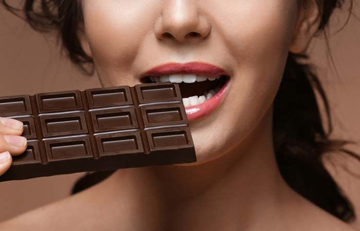 Image result for eating dark chocolate