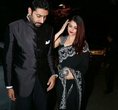 Love in black: Aishwarya Rai, Abhishek Bachchan's matching color attire grabs the attention