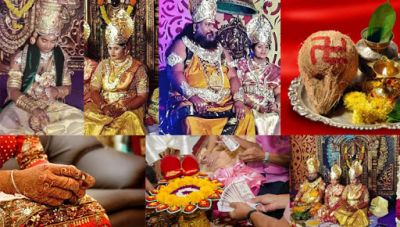 See pics! the couple married in goddess Lakshmi and Lord Vishnu avatar