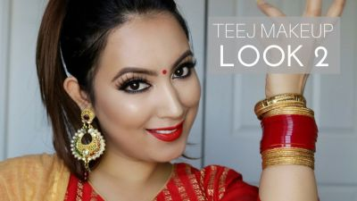 On Teej, look beautiful by doing this type of Makeup!