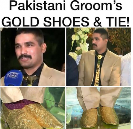 f24d6787b9 Pakistan Groom's Outfit worth INR 15 Lakh is viral 1 | News Track ...