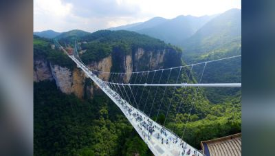 Get the most panoramic view from the World's highest and longest glass bridge in China