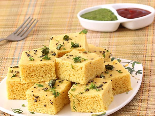 Make mouth watering spongy 'Dhokla' at home !