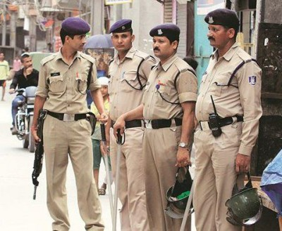 Policemen relieveing tension in deserted cities in this way