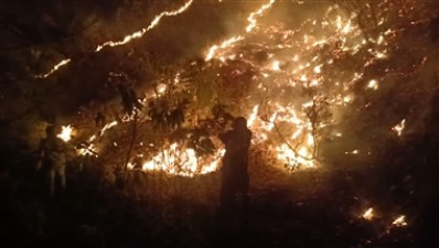 Uncontrollable Massive wildfire in Uttarakhand