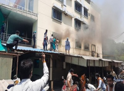 Massive fire at Patidar Hospital in Ujjain, 80 patients rescued