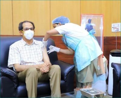 CM Uddhav Thackeray takes second dose of corona vaccination