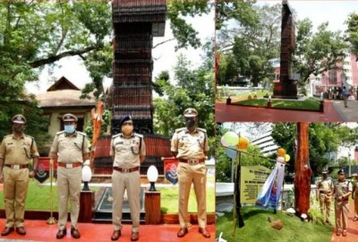 Country's first rifle collage made in Kerala, saluting the creativity of police