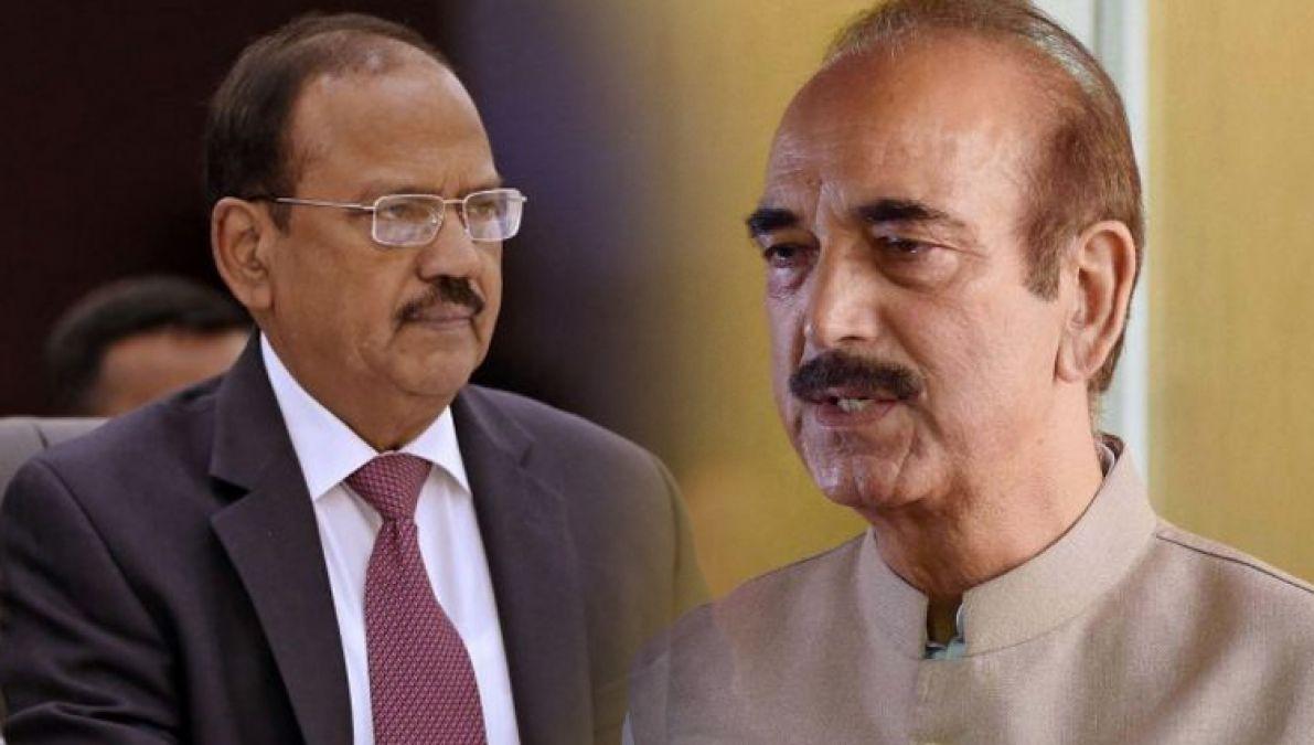 जम्मू कश्मीर में आम लोगों से मिले NSA अजित डोभाल, बौखलाए आज़ाद ने लगाए ऐसे आरोप