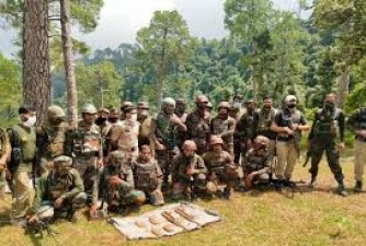 Terrorist hideout destroyed by security forces in Jammu, many weapons recovered