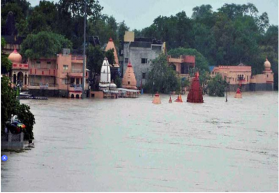 Shipra River wreak havoc in Ujjain, several temples submerged