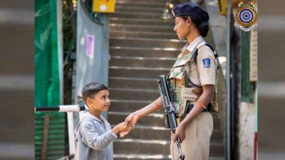 J&K: Photo of child shaking hands with CRPF personnel goes viral on internet