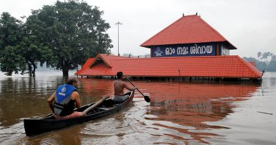 Flood disrupts normal life in country's south-west state
