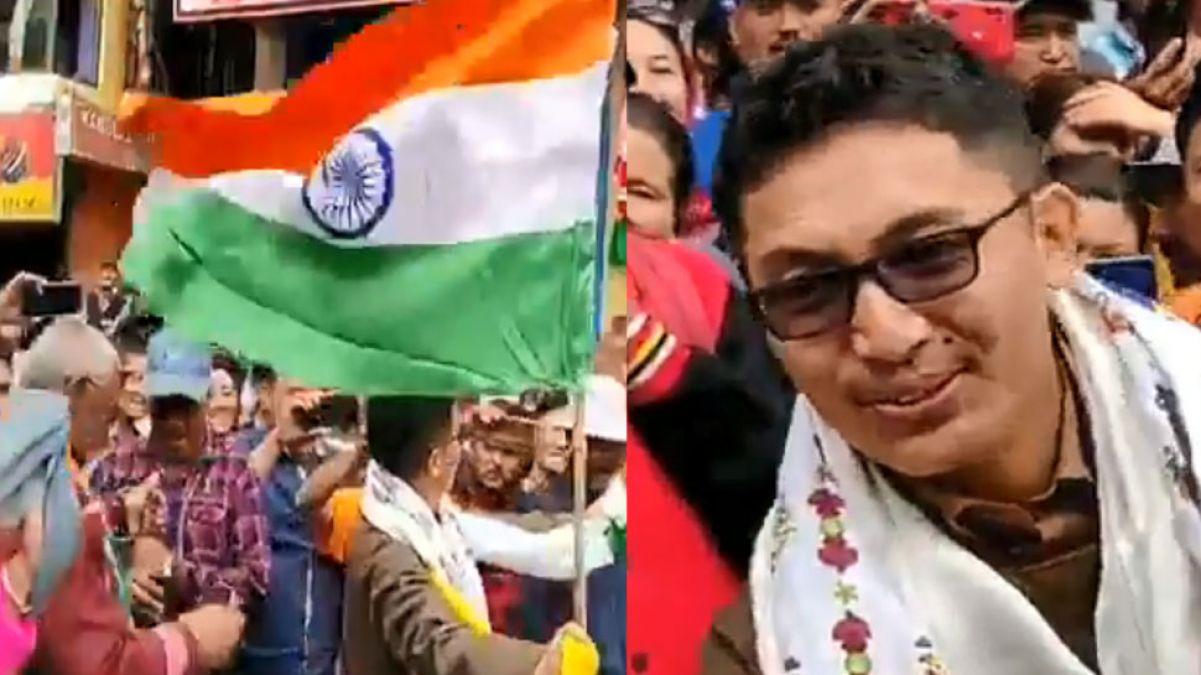 VIDEO: लद्दाख के सांसद ने फिर जीता देशवासियों का दिल, हाथ में तिरंगा लेकर डांस करते आए नज़र