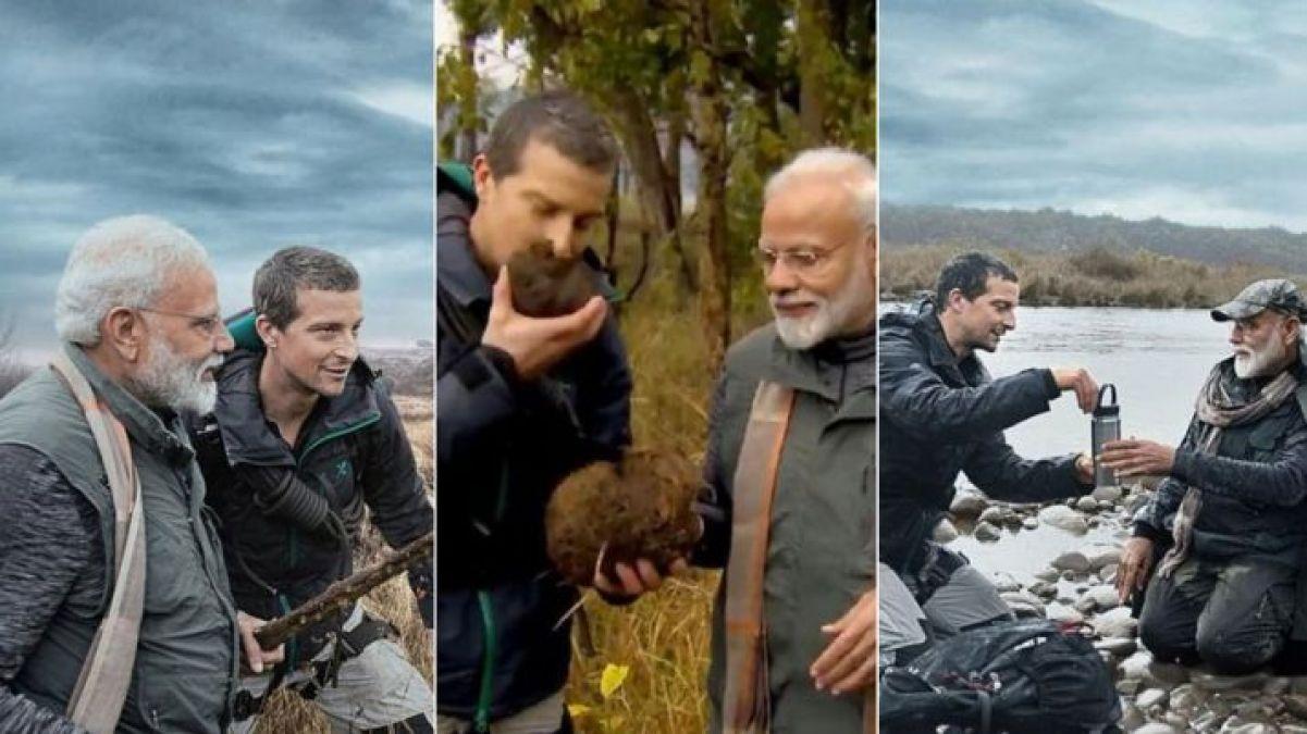 VIDEO:  Telecast of 'Man vs Wild' featuring PM Narendra Modi today