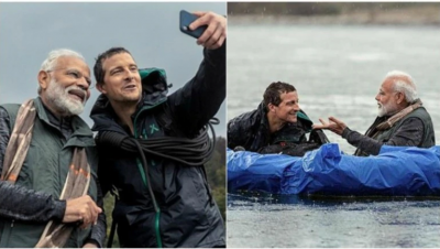 Man Vs Wild: खतरों से खेलते नज़र आए पीएम मोदी, ग्रिल्स बोले - हिमालय का पानी बेहद ठंडा