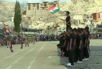 J&K governor Satyapal Malik hoisted the tricolor at Sher-e-Kashmir Stadium