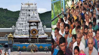 Devotees throng Tirumala Tirupati's Lord Balaji temple, 3 KM long Queue of devotees