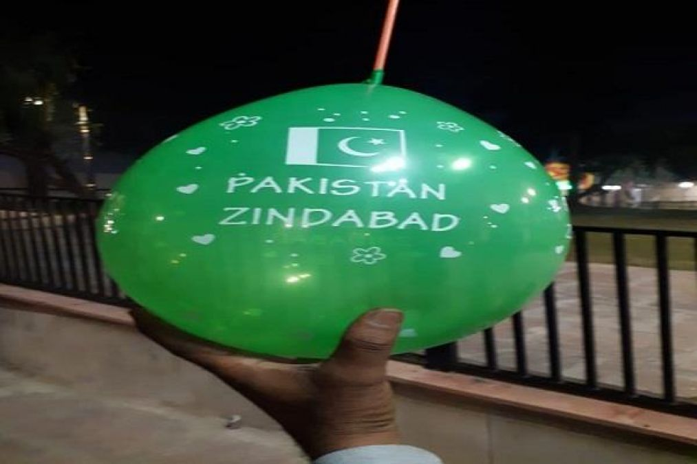 Pakistani balloons and flags found in village bordering Pakistan