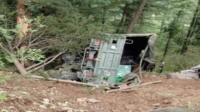 Army truck plunged into deep gorge, One soldier killed and three injured