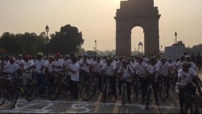 Several big judges in Delhi goes for 'Cycle Yatra' , here's reason