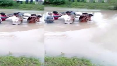 Madhya Pradesh: Mud houses collapsed due to torrential rain, father killed and son injured