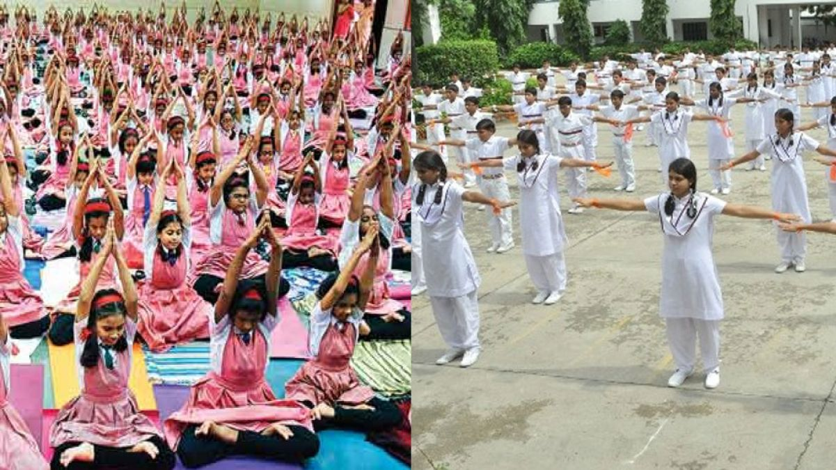 Yoga  compulsory in the states primary schools, 15-minute session every