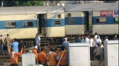 कानपुर स्टेशन पर बड़ा हादसा, बाउंड्री तोड़ पटरी से उतरे चार डिब्बे
