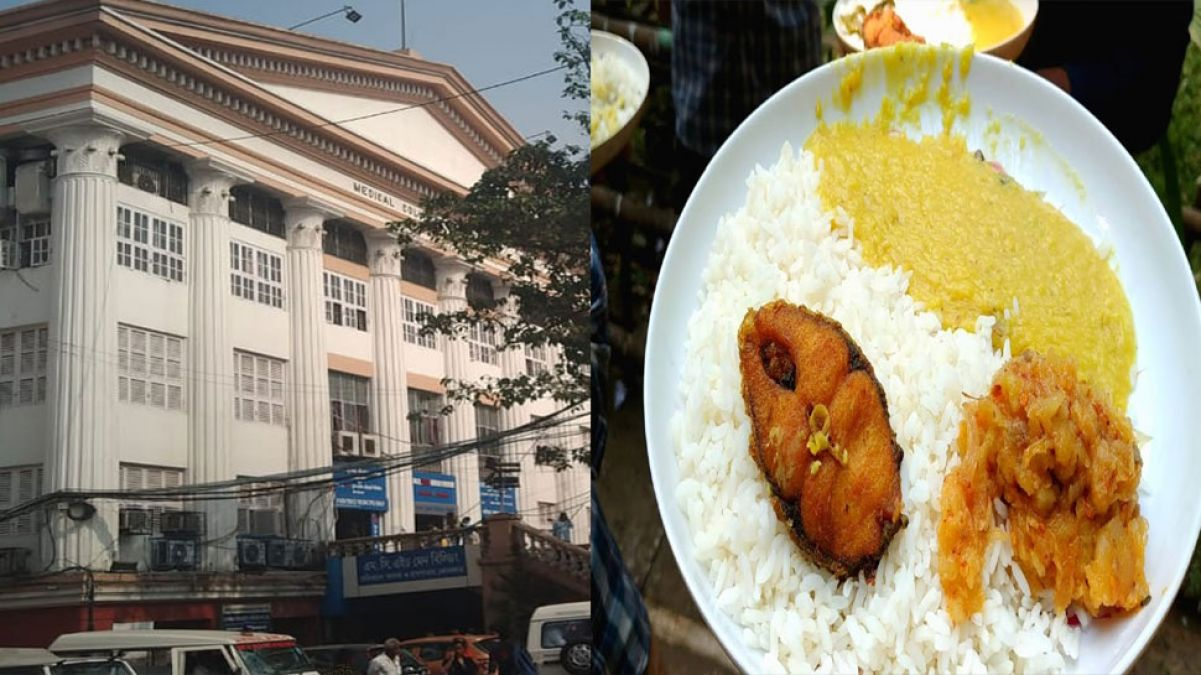 Patients' food being sold in medical college, pulses-rice-fish-vegetable available for 20 rupees