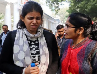 Anu Dubey is in discussion once again, protests outside Parliament alone