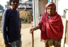Old woman travel 40km to get pension of Rs. 600 in heavy fever