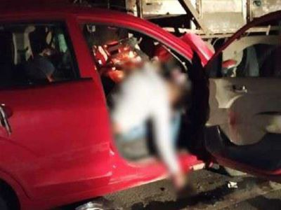 Vidisha: Tragic accident between car and truck, 4 dead