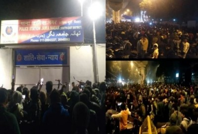 Firing in Jamia once again, atmosphere of panic among the protesters