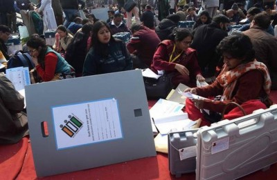 Delhi assembly election: AAP workers monitoring strong rooms after Delhi elections