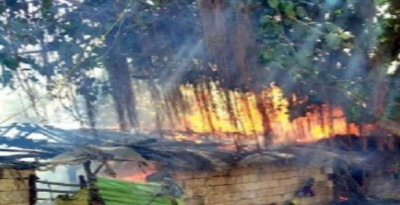 Tragic accident: Fire broke in hut, 3 children badly burnt