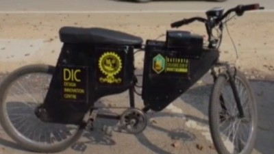 UP students made unique electric bike, contains alcohol censor