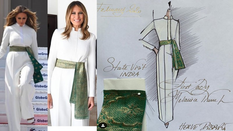 Melania Trump Has Something Special In This Dress It Has A Deep Connection With India News Track Live Newstrack English 1